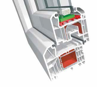 - 70 mm Bautiefe- Wärmedämmeigenschaften der Standardkombination- Uf-Wert = 1,2 W/m2K (Passivhaustauglichkeit mit entsprechenden Komponenten)- Verglasungsstärke bis 43 mm- Schalldämmung bis 47 dB (bis Schallschutzklasse V)- 2-fache Designvielfalt im Flügel- Designglasleiste für den Innenraum- Verdeckte, nicht sichtbare Entwässerung möglich- Geschützt liegende Beschlagskammern für höchsten Einbruchschutz- 5-Kammer-System als Standardkombination- Mitteldichtungssystem mit drei Dichtungsebenen